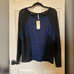 Francesca's Light Weight Color Blocked Sweater